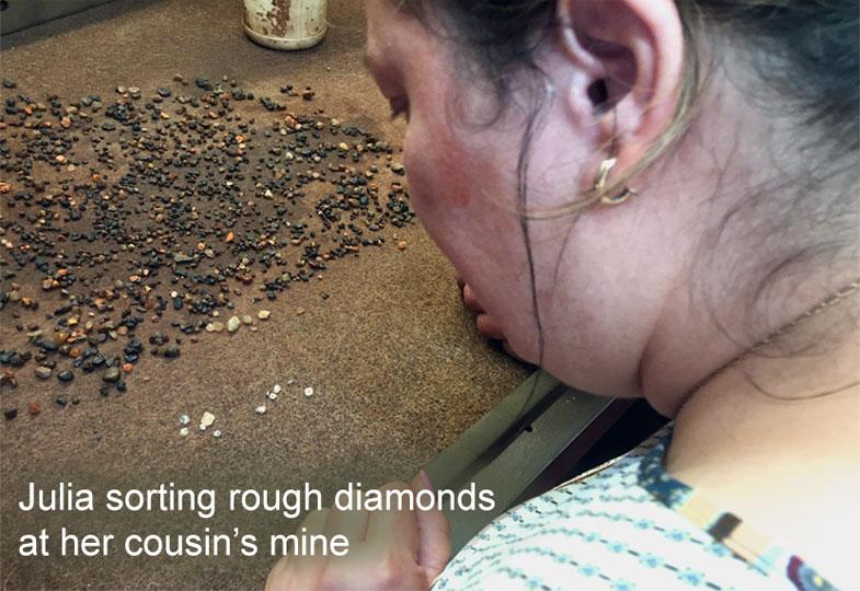 julia sorting rouch diamonds