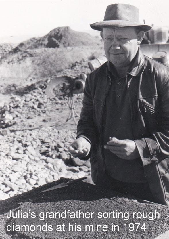 julia's grandfather sorting rough diamonds