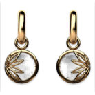 Enraptured Collection Rock Crystal 18K Gold Drop Earrings