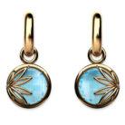 Enraptured Collection Sky Blue Topaz 18K Gold Drop Earrings