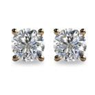 2ct Round Brilliant Cut Diamond 18K Gold Stud Earrings
