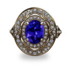 Tanzanite and Diamond 18K Gold Ring