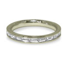 0.40ct Baguette Cut Diamond Half Eternity Style 18K Gold Band