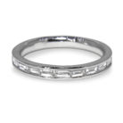 0.40ct Baguette Cut Diamond Half Eternity Style Platinum 950 Band