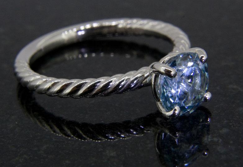 cool blue of aquamarine